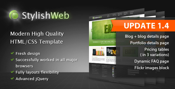 ThemeForest StylishWeb Modern High Quality HTML CSS Template 122754