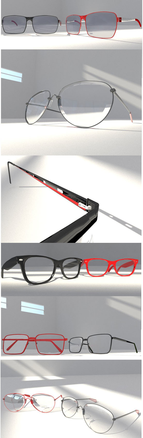 10 EYE glasses package - 3DOcean Item for Sale