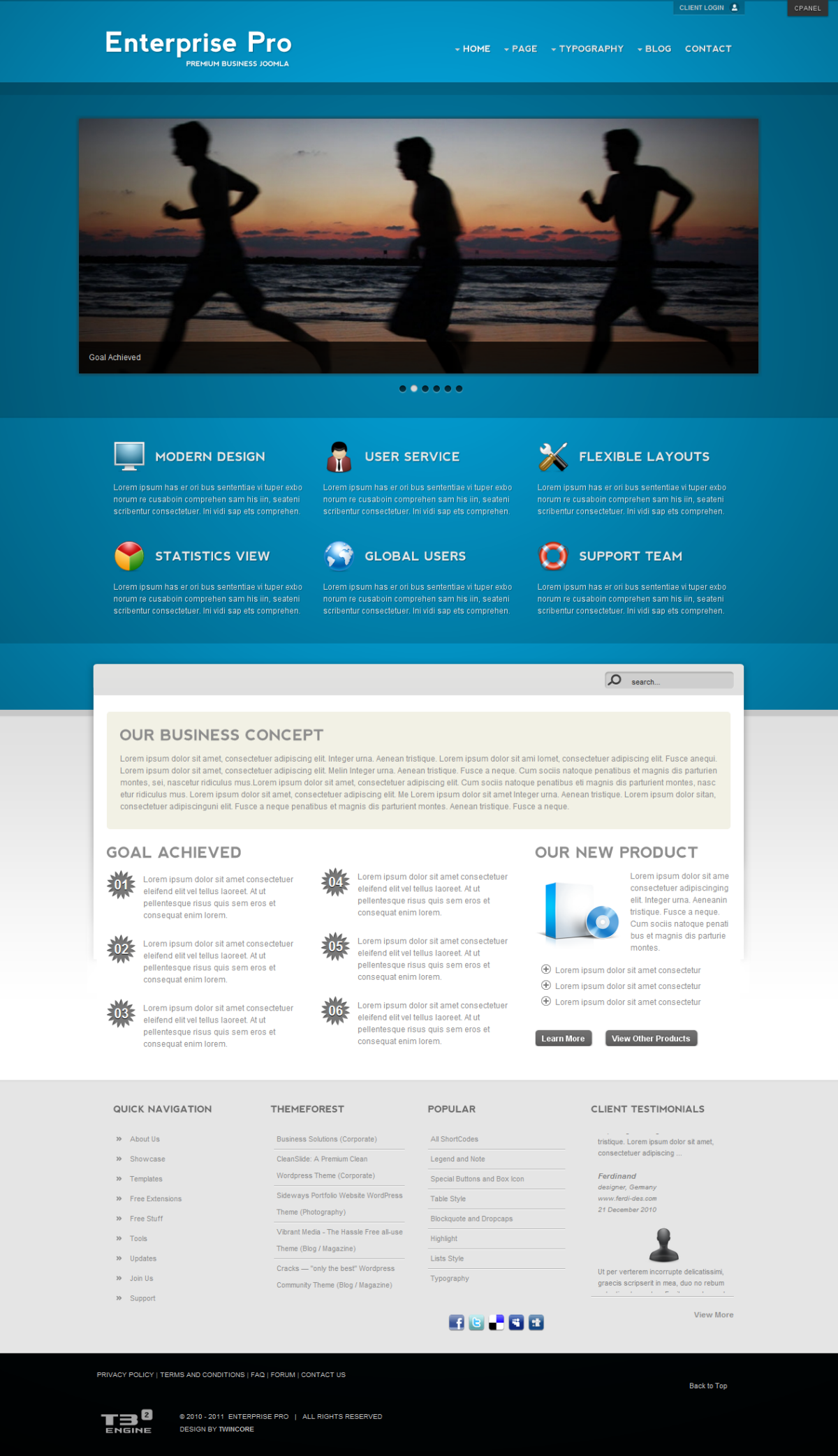Enterprise Pro - Premium Business Joomla Template