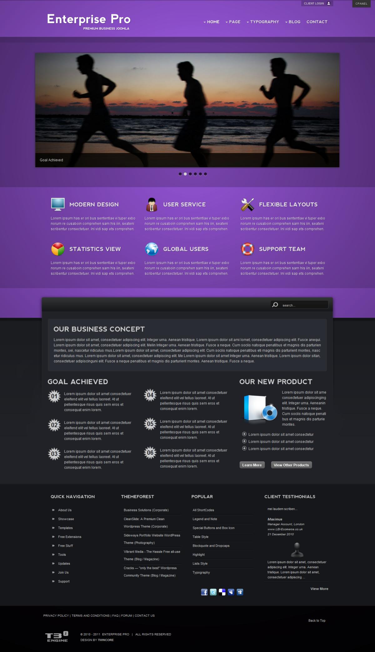 Enterprise Pro - Premium Business Joomla Template