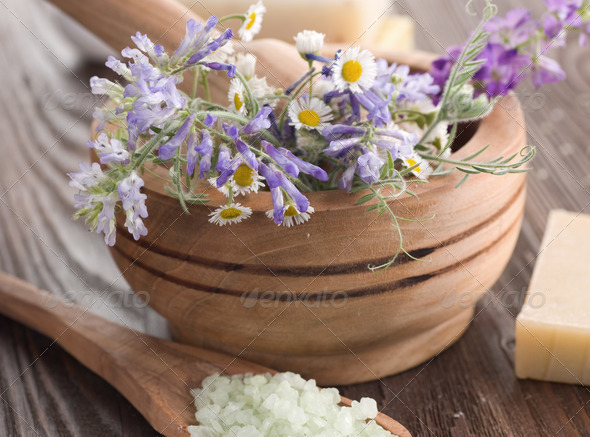 Natural Herbal Spa Products - Stock Photo - Images