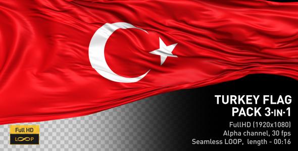 VideoHive Turkey Flag Pack 12677196