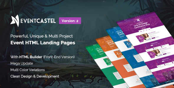 EventCastle - Event Landing Page Template With Page Builder