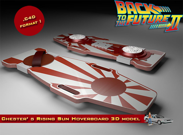 Chester Whitey Nogura's Rising Sun Hoverboard - 3DOcean Item for Sale