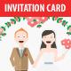 Cute Wedding Invitation and RSVP Card