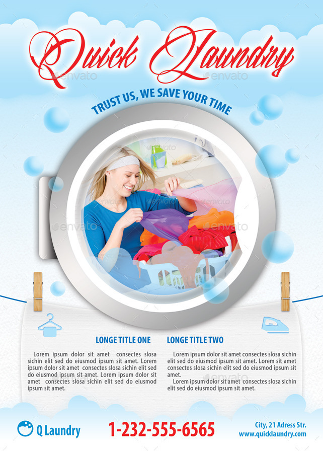 28 Ironing Service Flyer Template Cloths
