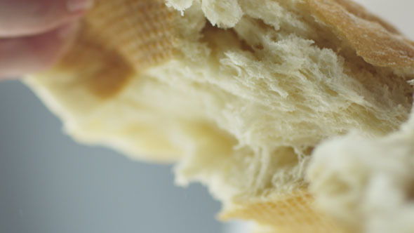 Tearing off White Bread with Hands by Gorodenkoffs | VideoHive