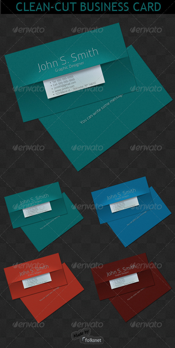 Clean-Cut Business card
