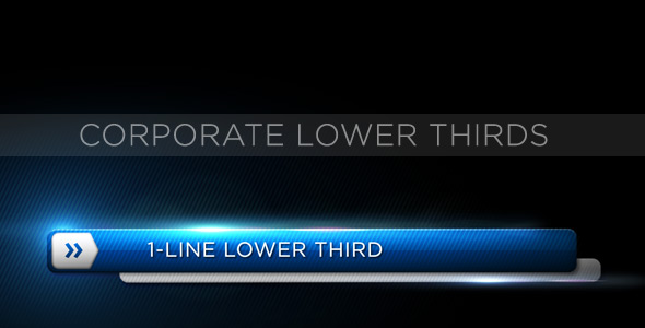After Effects Project - VideoHive Corporate Lower Third 153152