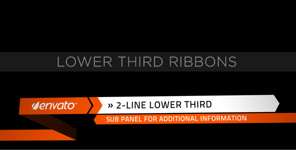 After Effects Project - VideoHive Lower Third Ribbons 153153