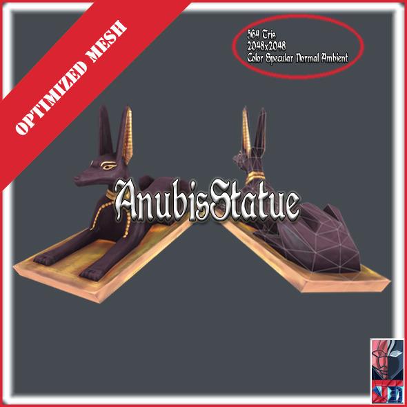 Anubis Statue - 3DOcean Item for Sale