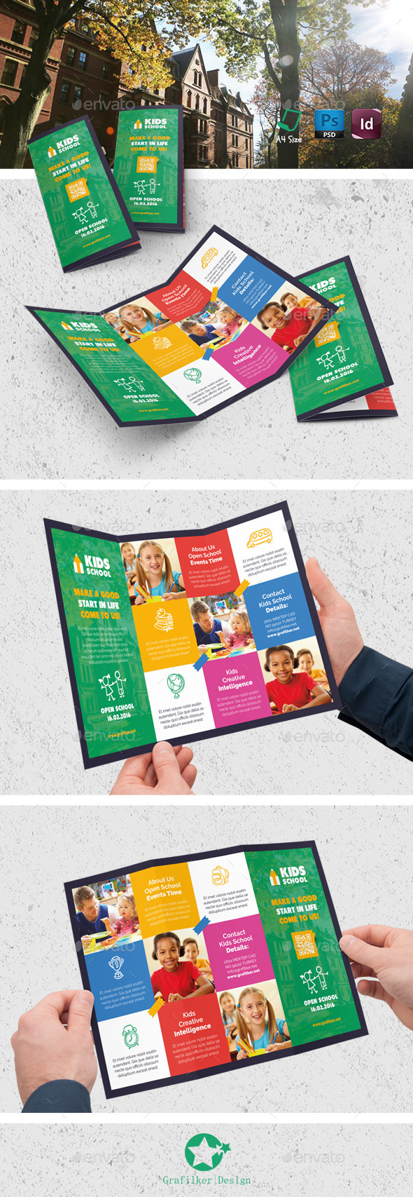 Kids Brochure Templates From Graphicriver