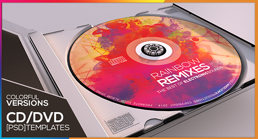 COLORFUL CD DVD TEMPLATE VERSION