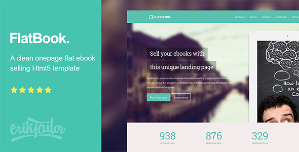 FlatBook - Flat Ebook Selling Html Template