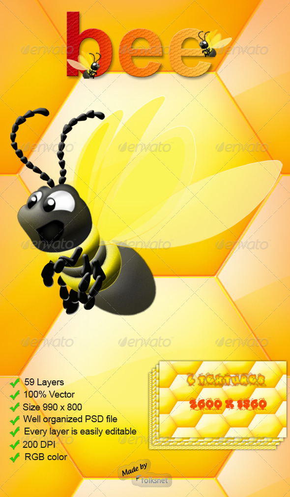 GraphicRiver Bee Graphic 114255