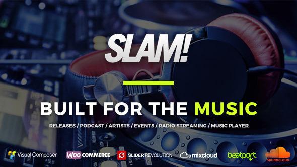 SLAM! Music Band, Musician and Dj WordPress Theme