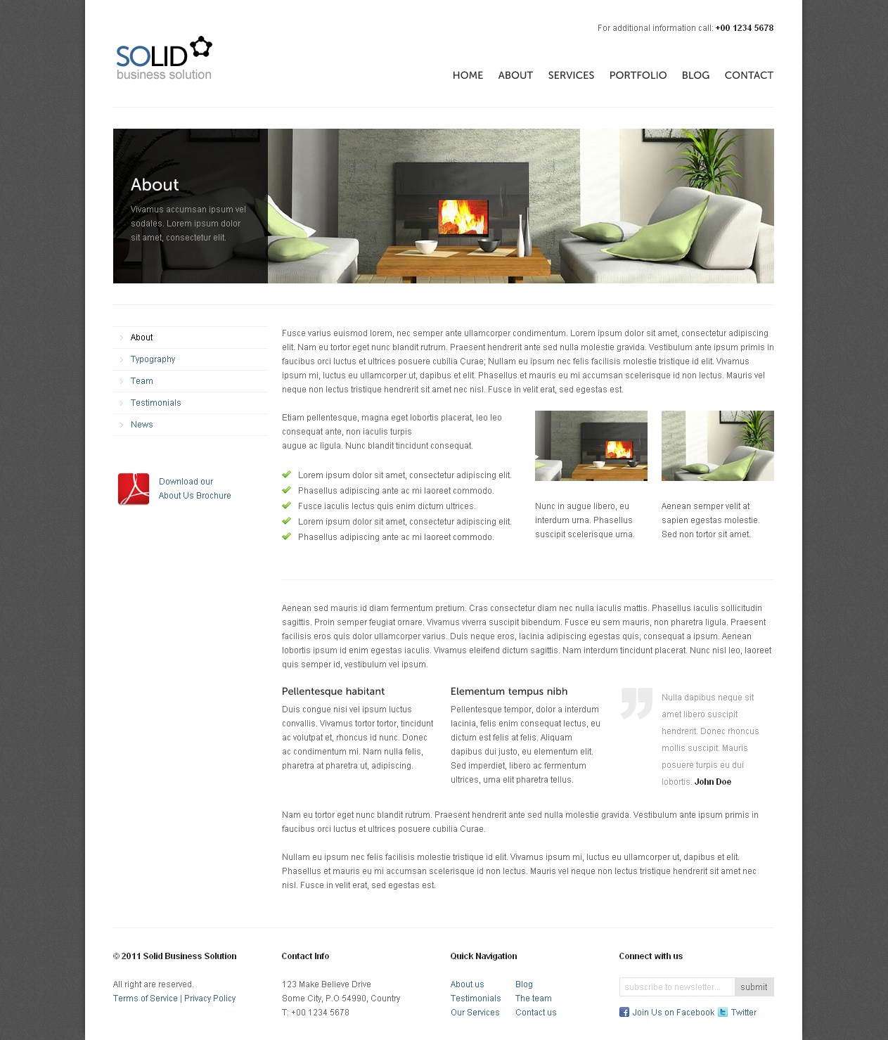 Solid WP - Corporate / Business WordPress Theme