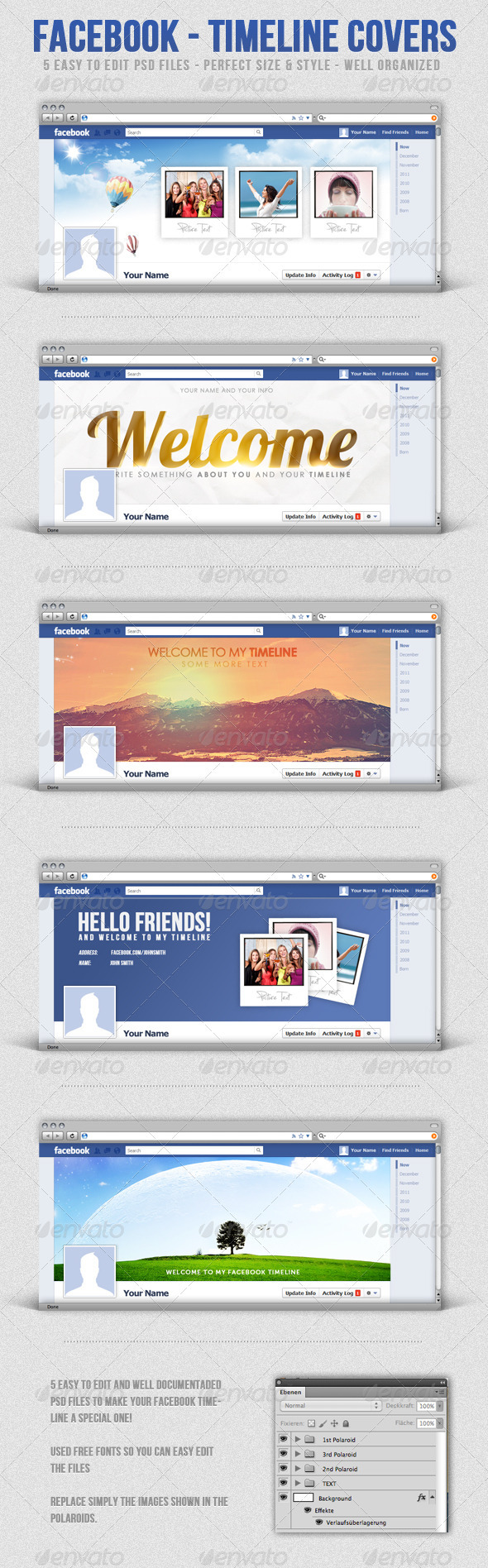 GraphicRiver Facebook Timeline Covers 1253954