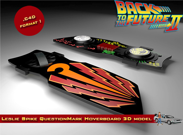Leslie Spike O'Malley's QuestionMark Hoverboard - 3DOcean Item for Sale