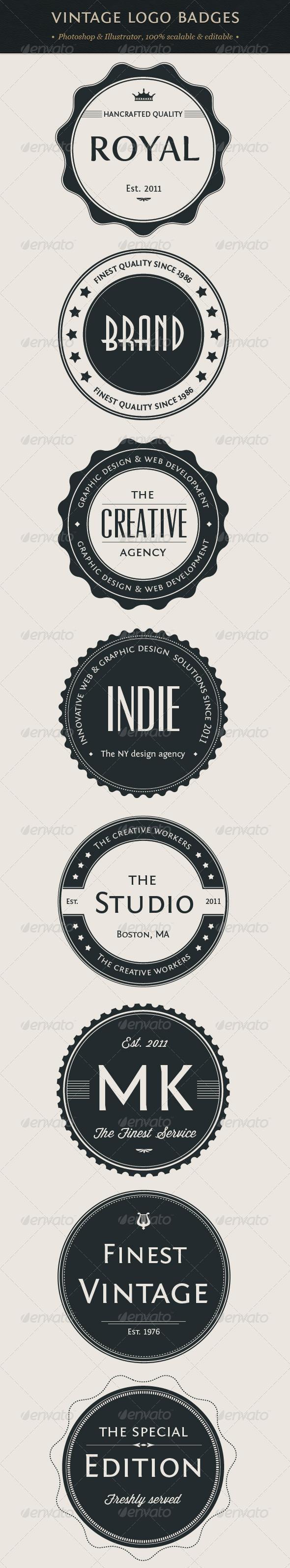 GraphicRiver Vintage Logo Badges Set 1272064