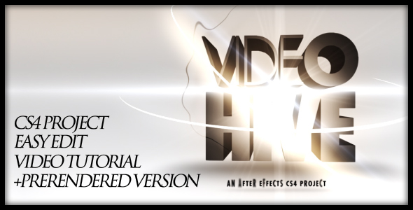 After Effects Project - VideoHive 3D text opening 153281