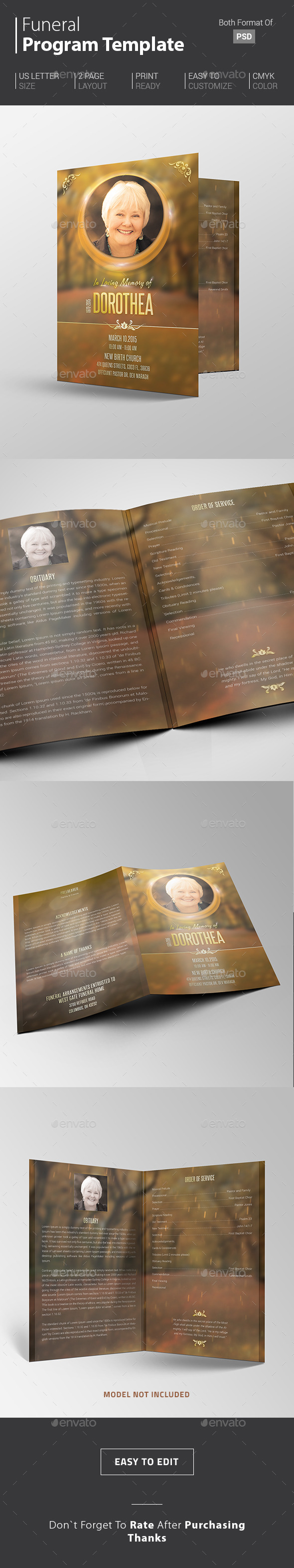funeral programs template graphics designs templates