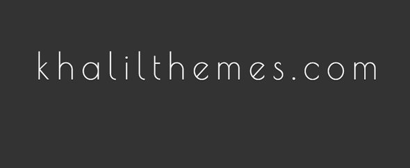 Khalil themeforest cover