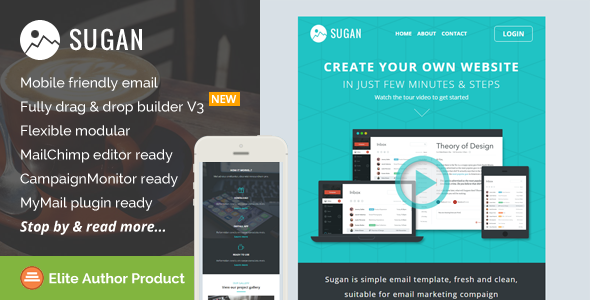 Sugan, Responsive Email Template + Builder Access