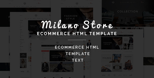 Milano - Multipurpose Ecommerce HTML Template