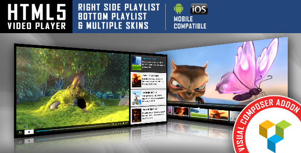 Visual Composer Addon - HTML5 Video Player
