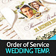 Classy Wedding Order of Service Template