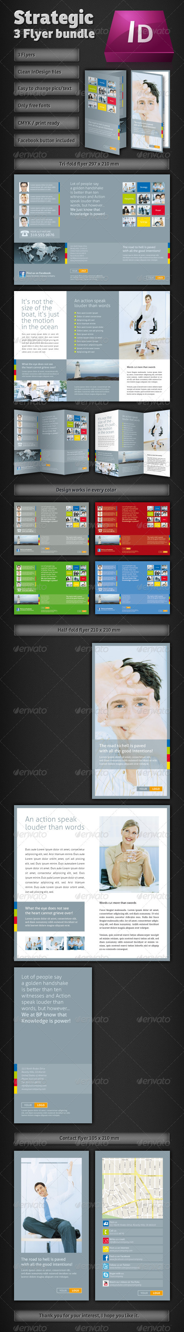 Strategic Corporate Flyer Bundle - Corporate Brochures