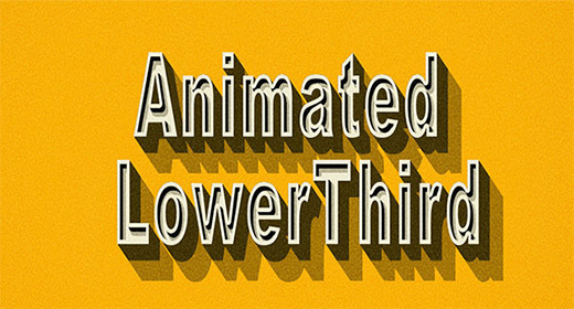 Animated Lower Third