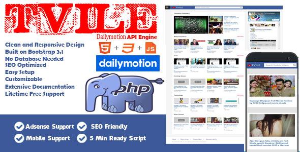 Tvile Dailymotion API Engine