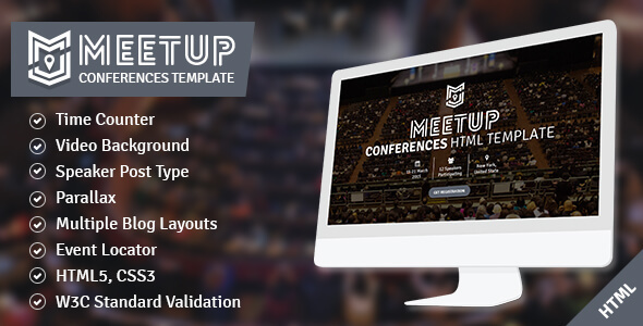 The Meetup - Conference and Event Responsive Template