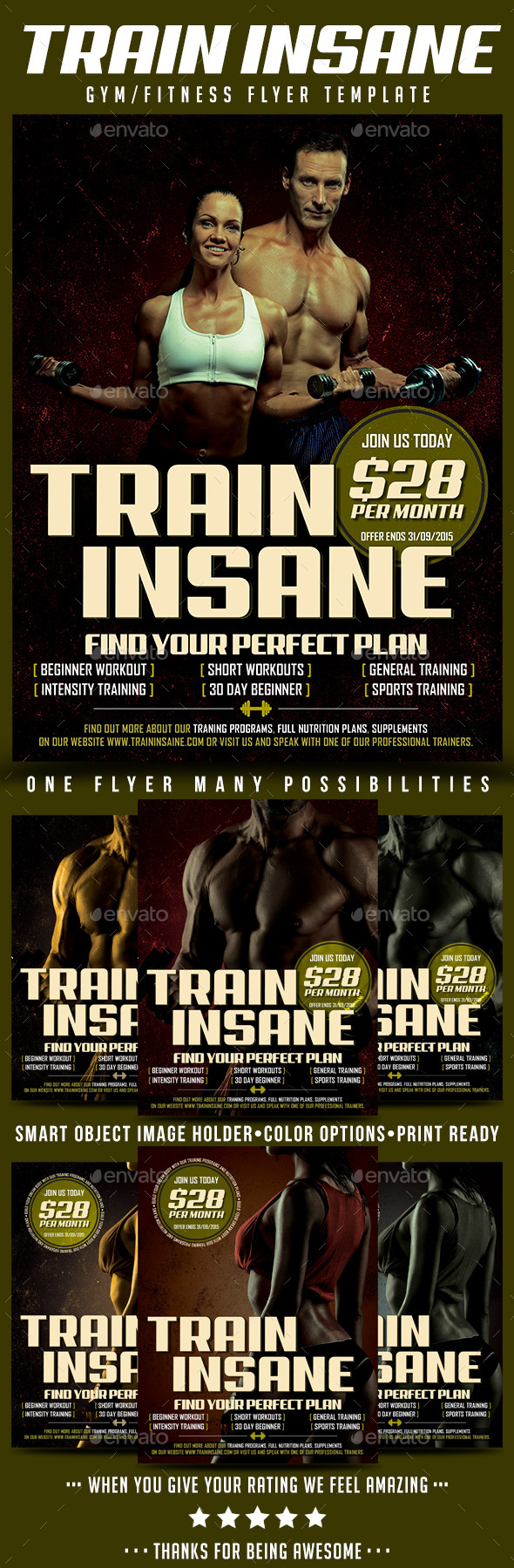Gym/Fitness Flyer Template