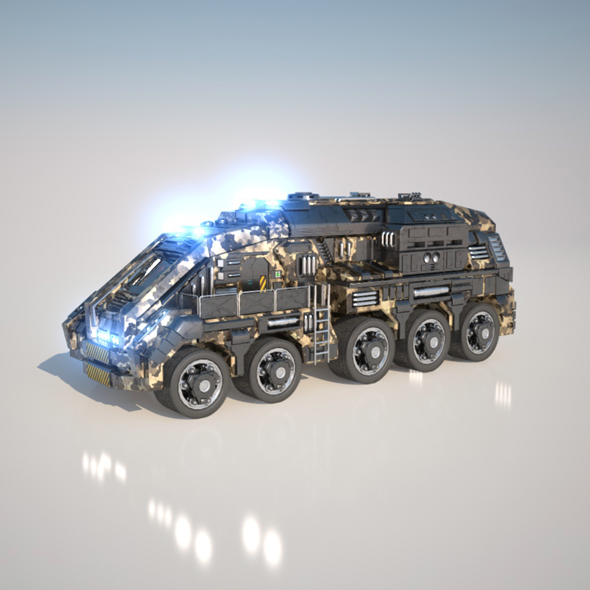 Large Truck - 3DOcean Item for Sale