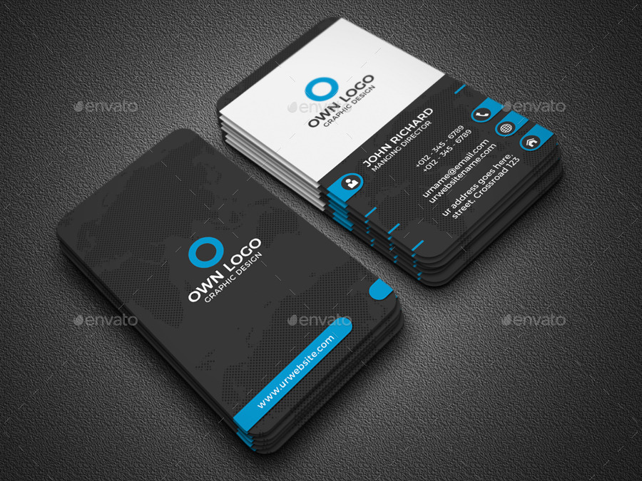 Vertical Business Card by Zavad