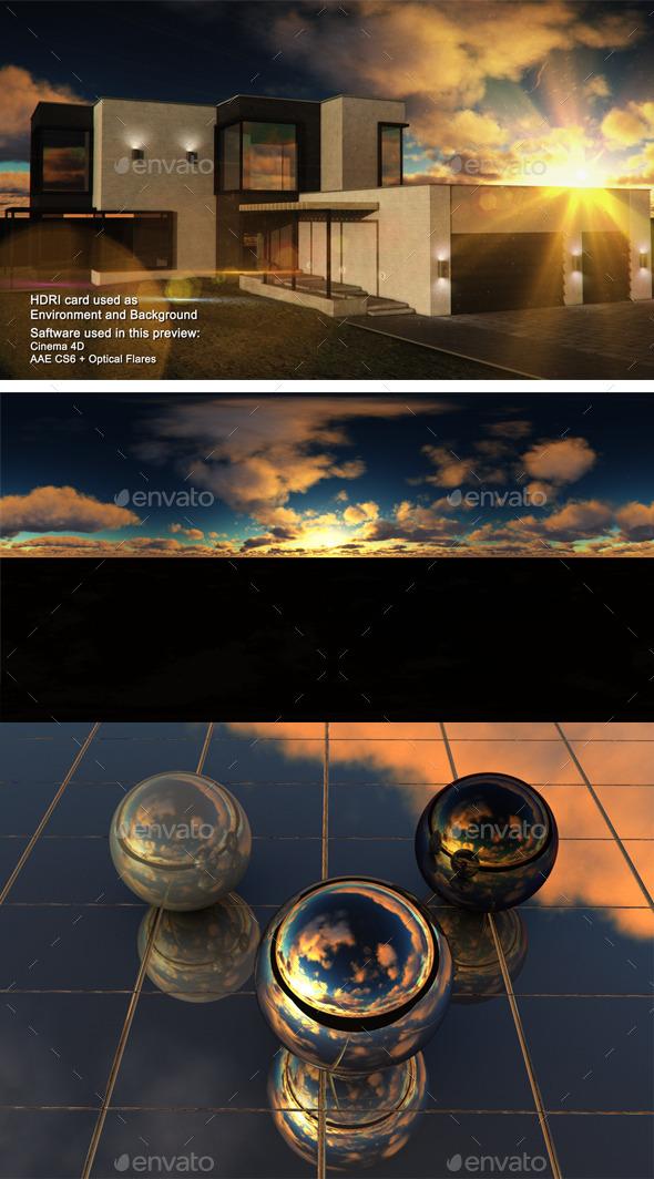 Sunset Desert 26 - 3DOcean Item for Sale