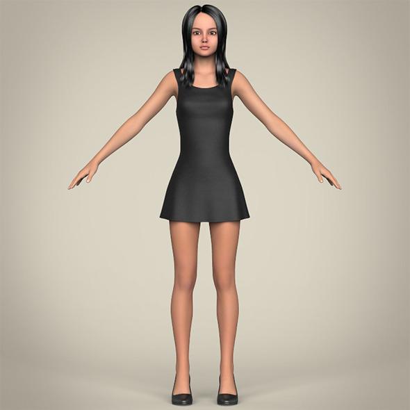 Realistic Beautiful Teenage Girl - 3DOcean Item for Sale