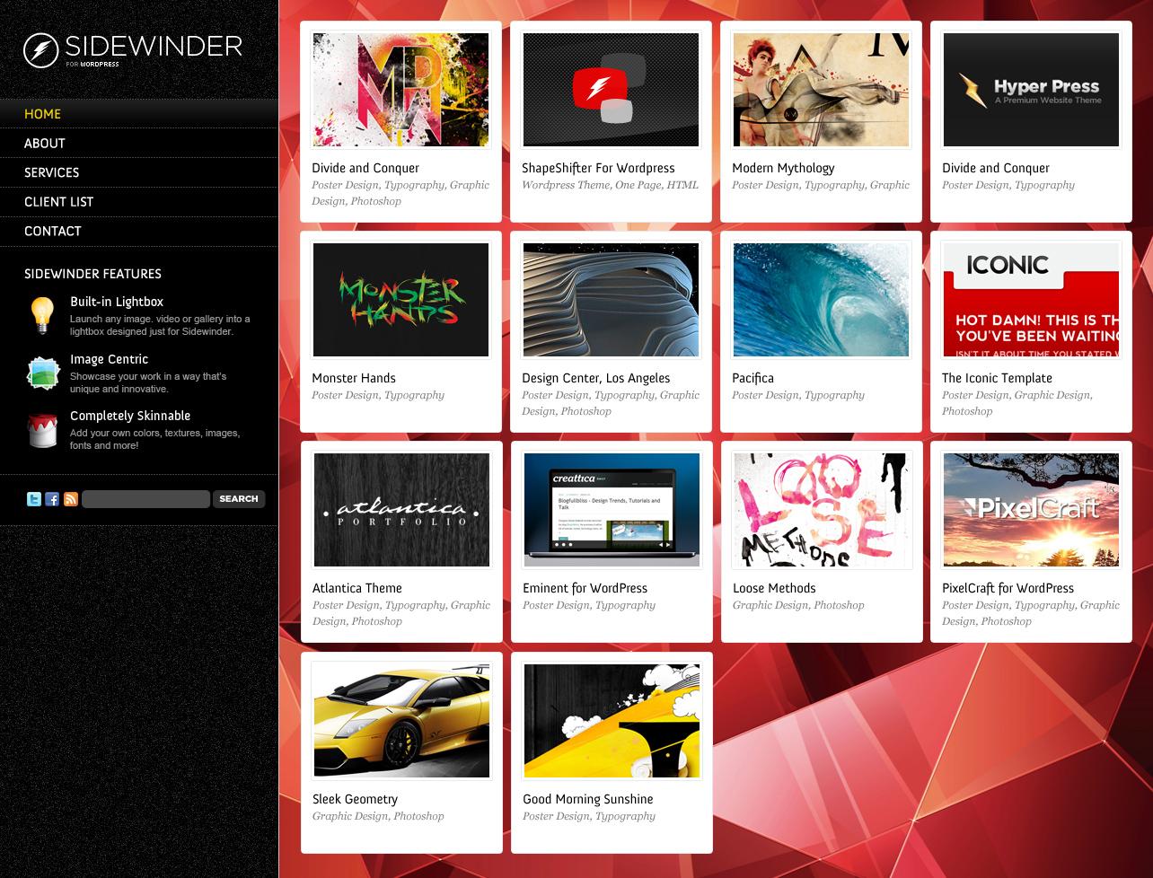 SideWinder - Premium Portfolio Template