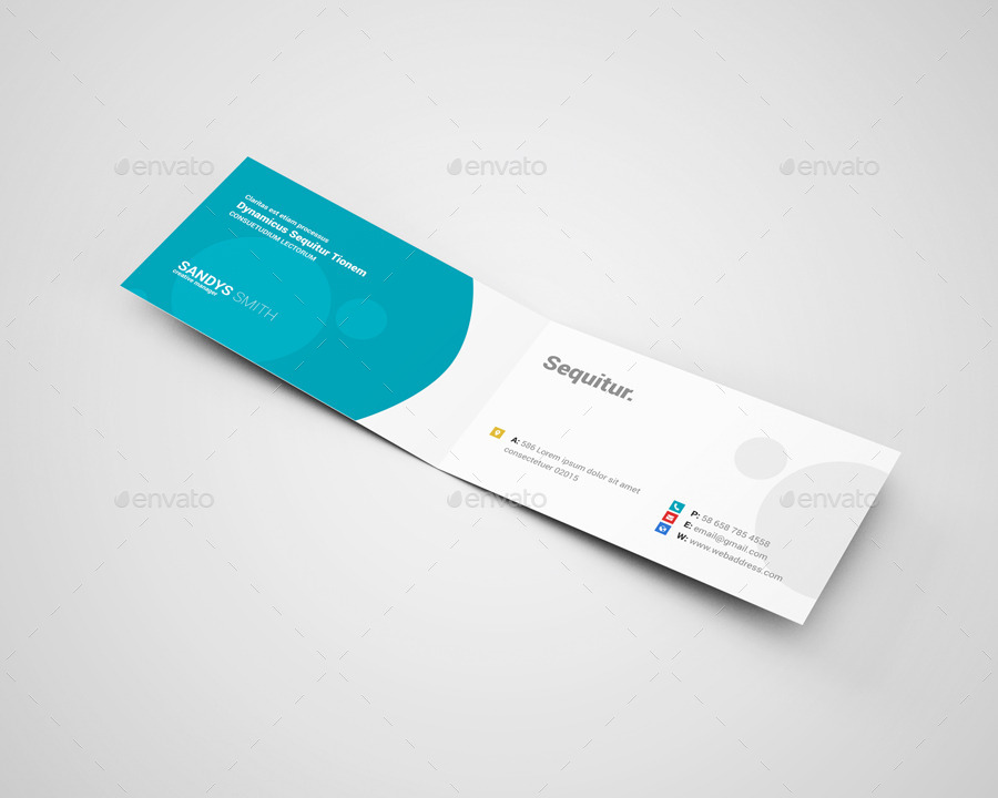 Awesome folded business card template contemporary business card fold over business card template boblabus fold over business card wajeb Images