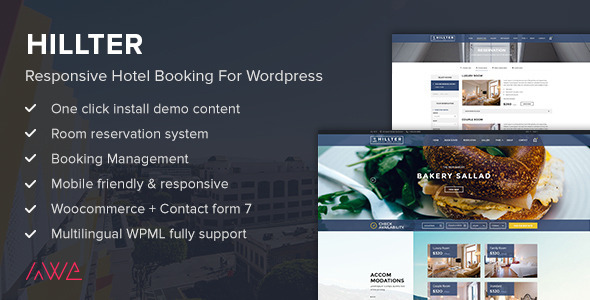 Hillter - Responsive Hotel Booking for WordPress