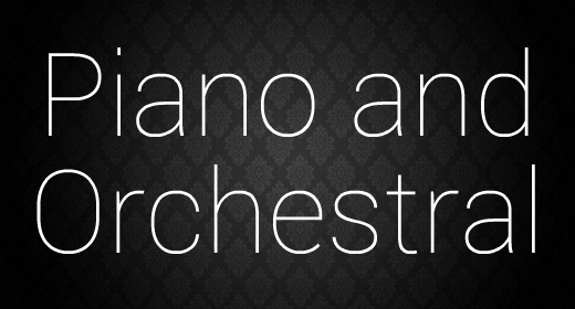 Piano and Orchestral