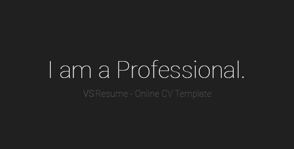 VSResume - Online CV / Resume Template