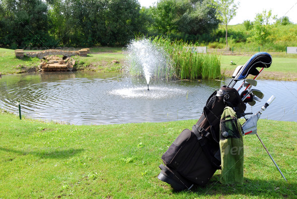 Golf bag - Stock Photo - Images