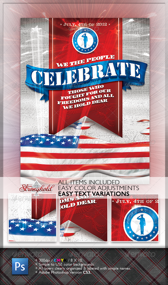 Celebrate 4th of July Flyer