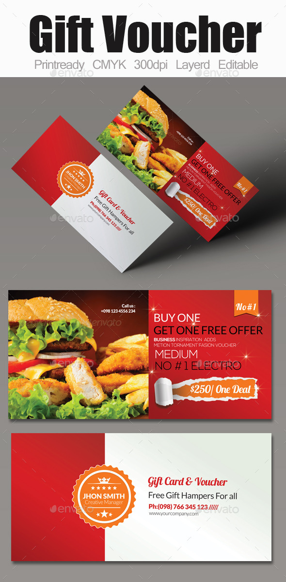Food card designs invite templates from graphicriver yelopaper Choice Image