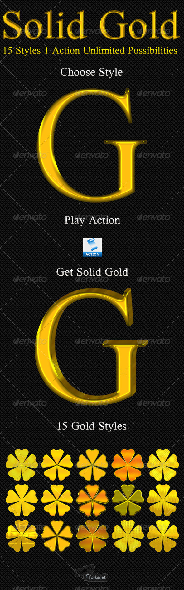 Solid Gold - Text Effects Actions