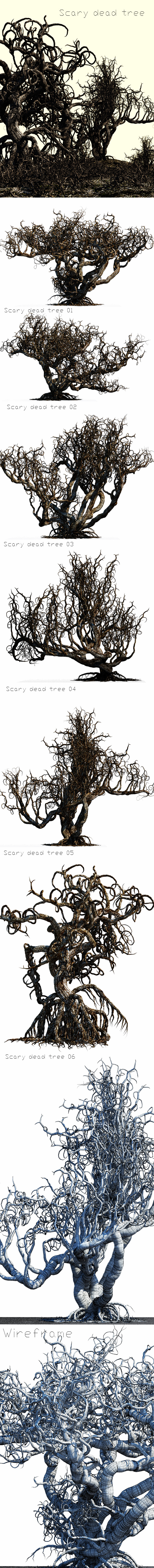 6 Scary Dead Trees - 3DOcean Item for Sale